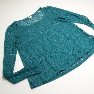 👚 Aeropostale Long Sleeve Open Mesh Net Shirt